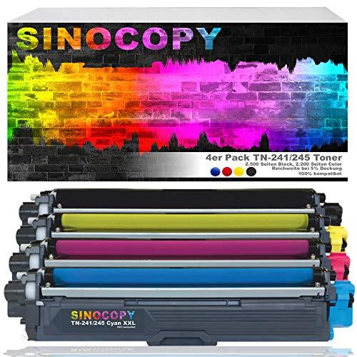 4 SinoCopy XXL Toner für Brother TN-241 TN-245 DCP-9020 CDW HL-3140 3150 3170 CW CDN CDW MFC-9130 9140 9330 TN241 TN245