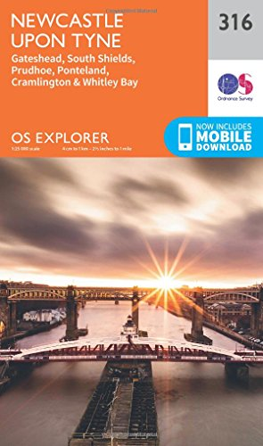 OS Explorer Map (316) Newcastle Upon Tyne (OS Explorer Paper Map)
