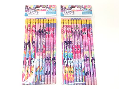 24 Pcs My Little Pony Wood Pencils Birthday Party Favors Bag Fillers - 2 DZ