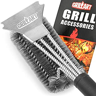 GRILLART Grill Brush and Scraper Best BBQ Brush for...
