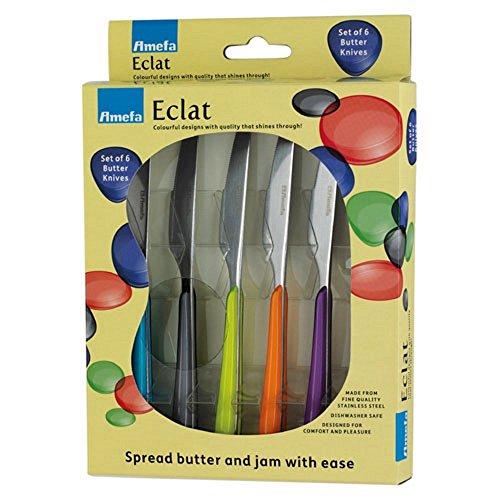 Amefa Eclat Kaleidoscope Set of 6 Butter Spread Knives