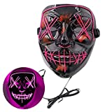Halloween Mask Scary LED Light Up Purge Mask for Festival Cosplay Halloween Costume