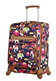 Lily Bloom Luggage Carry On Expandable Design Pattern Suitcase For Woman With Spinner Wheels (20in, Elephant Rain)