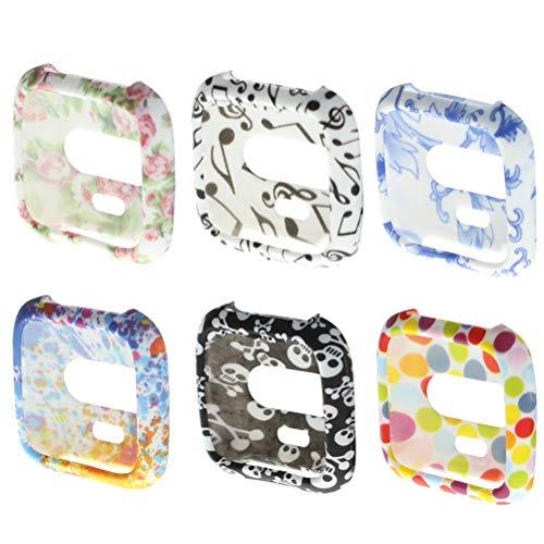 UKCOCO Custodia Fitbit Versa, 6 Pezzi Colorato Cover in Gomma Silicone...