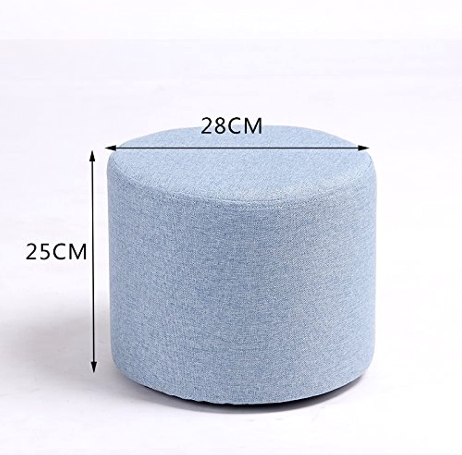 Dana Carrie Stool Stylish Ideas for shoes of Solid Wood Cloth Sofas stools Low stool Round stool wear shoes The Tea Small stools Benches sit Mounds, Light bluee 25  28cm