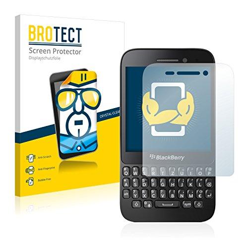 BROTECT Schutzfolie kompatibel mit BlackBerry Q5 (2 Stück) klare Bildschirmschutz-Folie