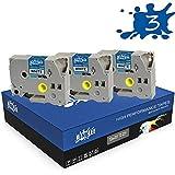 RINKLEE TZe-231 TZ-231 Nero su Bianco Nastro per Etichette Compatibile con Brother P-Touch PT-1000 1010 H100R H101GB H107B H110 P300BT P700 P710BT CUBE D210 D600VP E550WVP | 12 mm x 8 m | 3 Cassette