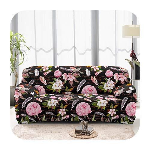 ZaHome Funda elástica lavable para sofá de 1/2/3/4 plazas, con estampado de flores, para sala de estar, sofá de mascotas, funda de sofá de 02-1 plaza, 90-140 cm