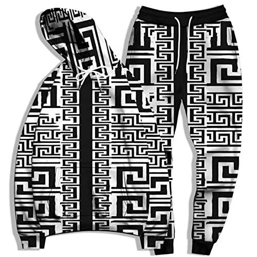 SSBZYES Suéter para Hombre Traje De Sudadera para Hombre Sudadera De Talla Grande para Hombre Pantalones De Chándal De Talla Grande Sudadera con Capucha Traje Deportivo con Estampado De Moda