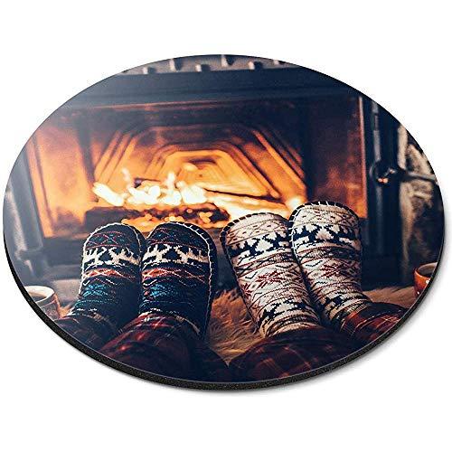 Ronde muismat - Gezellige Winter Open Haard Sokken Office Gift
