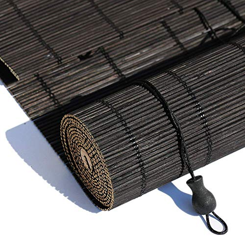 LNDDP Persianas enrollables Persianas Exteriores enrollables, Sombrilla Negra para Pergola Gazebo Deck Patio Porche Carport, 80/100/120/140 cm Ancho