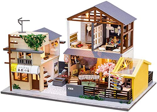 PPWYY DIY Miniature Maison de poupées Mini Maison de poupée en Bois Assemblée 3D Toy Cuisine Salle de Bain Meubles Fun Kit Assemblé Jouet Cadeau pour bébé Tout-Petits Enfants