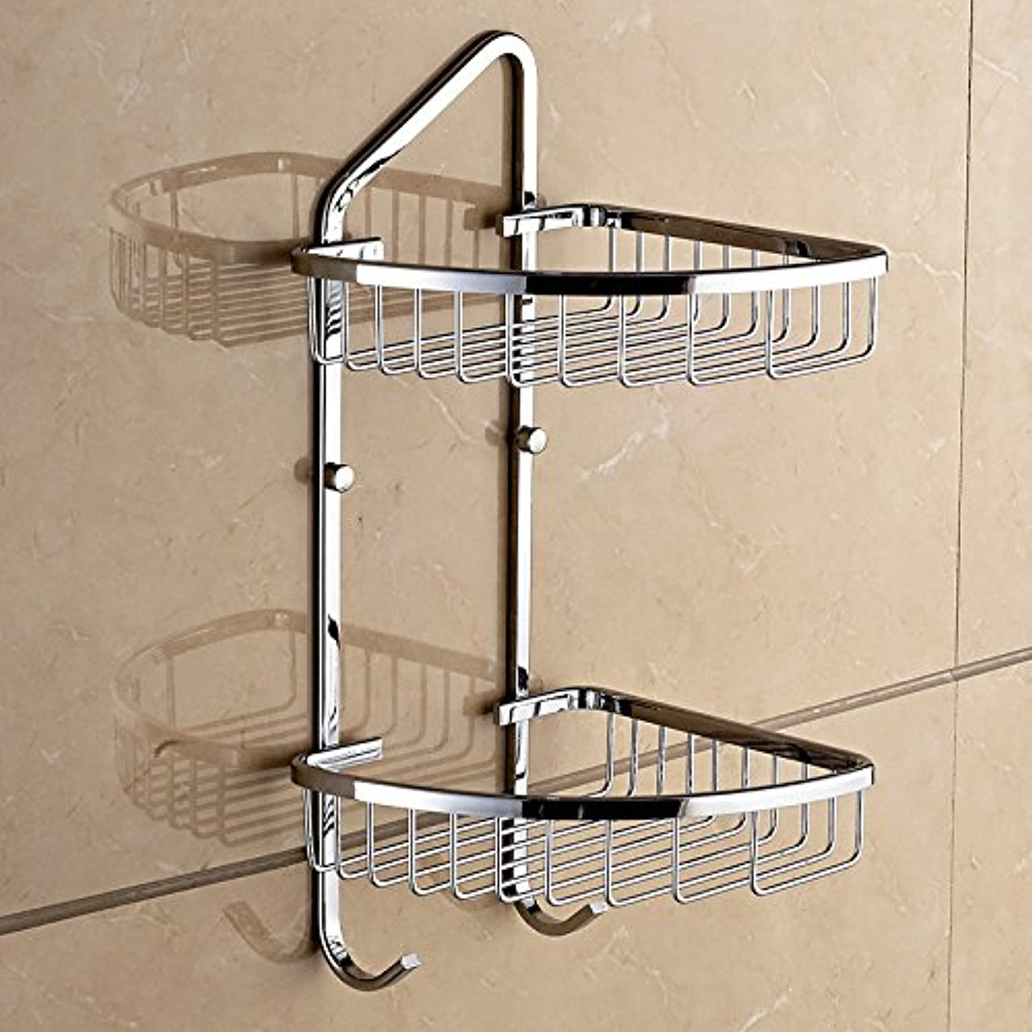 Stainless steel triangular basket stand single wall double corner baskets bathroom shelves bathroom corner shelf