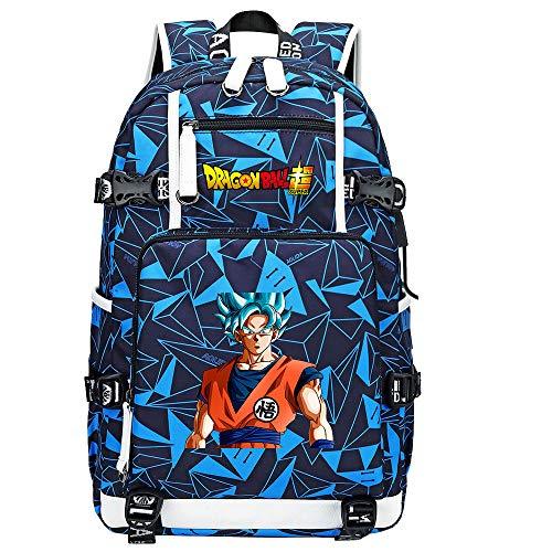 ZZGOO-LL Dragon Ball Son Goku/Vegeta IV/Torankusu Anime Mochilas Moda Viaje Mochila Informal Negocios Universidad USB Unisex-G