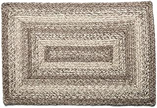 IHF Home Decor Braided Area Rug | Ashwood Design | Rectangle Farmhouse Flooring Carpet | Grey, Tan Hand Woven Jute Natural...