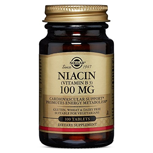 Solgar Niacin Vitamin B3 Tablets, 100 mg, 100 Count