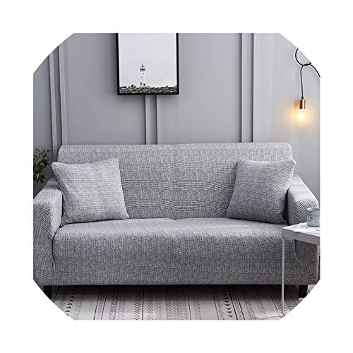 Bernice Winifred Fundas de sofá Estampadas a Rayas para Sala de Estar Moderno sofá de Tres plazas Fundas elásticas de Gran flexibilidad, Color 12, 4-Seater 235-300cm