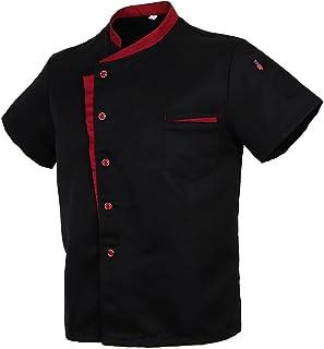 Baoblaze Cuoco Camicia Manica Corta Da Cucina per Uomo Donna