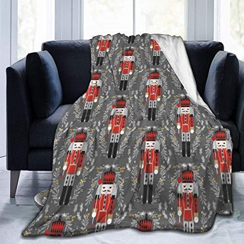 Popcorn In Spring Decke Nussknacker Weihnachten Premium Mikrofaser Fleece Decke Super Soft Gemütliche Bettdecke Warme Couch Dekorative Decke für Wohnzimmer Schlafzimmer Wohnheim