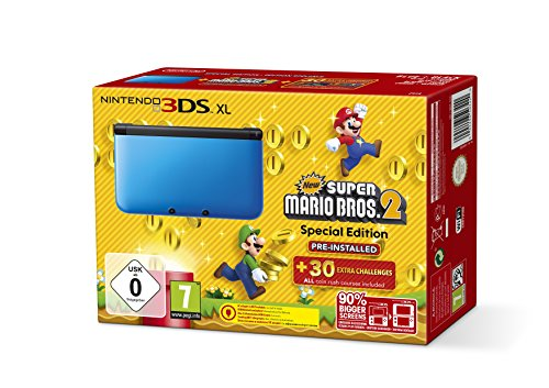 Nintendo 3DS XL - Konsole Blau inkl. New Super Mario Bros 2