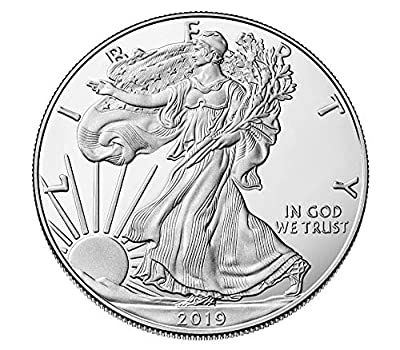 2019 - American Silver Eagle .999 Fine Silver with Our Certificate of Authenticity Dollar Uncirculated US Mint