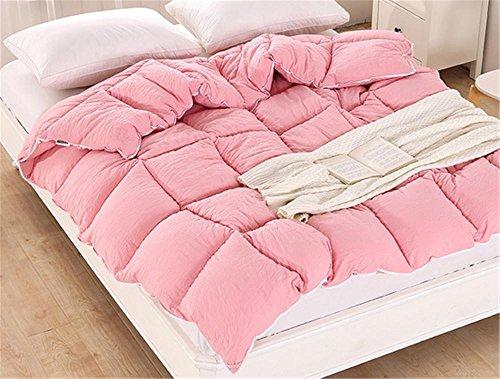coton lavé couette chaude/couette confortable, M, red