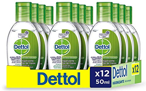 Dettol Gel Hidroalcoholico Desinfectante De Manos 50 ml - Pack de 12