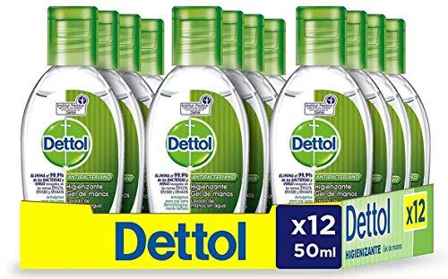 Dettol Gel Hidroalcoholico Desinfectante De Manos 50 ml - Pack de 12
