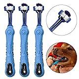 OneBarleycorn - 3 Stück Hundezahnbürste für Haustierzahnpflege