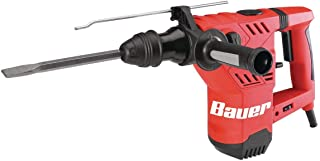 Bauer 1641E-B 1-1/8 Inch SDS Variable Speed 10 Amp Pro Rotary Hammer Kit featuring Anti-Vibration Handle