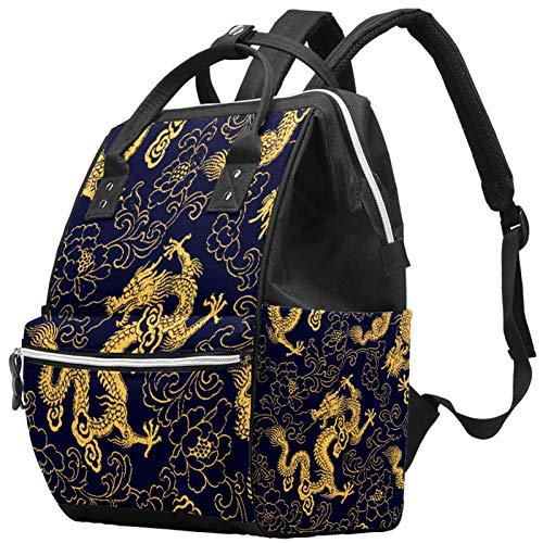 LORVIES - Bolso cambiador de pañales, diseño de dragón
