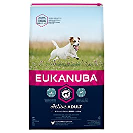 Eukanuba Adult Dog Food for Small Dogs Rich in Fresh Chicken, 12 kg