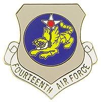 "UNITED STATES AIR FORCE FOURTEENTH BATTALION PIN - USA American Patriotic Original Artwork, Expertly Designed PIN - 1"""