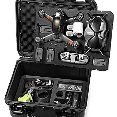 Lekufee Waterproof Hard Case Compatible with DJI FPV Combo and More DJI FPV Drone Accessories [Not Include FPV Drone and Accessories]