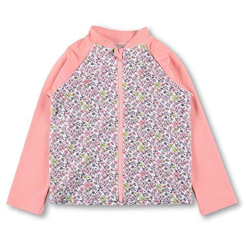 [ブランシェス] 水着 小花柄 プリント ラッシュガード 女の子 キッズ 子供 90cm ピンク