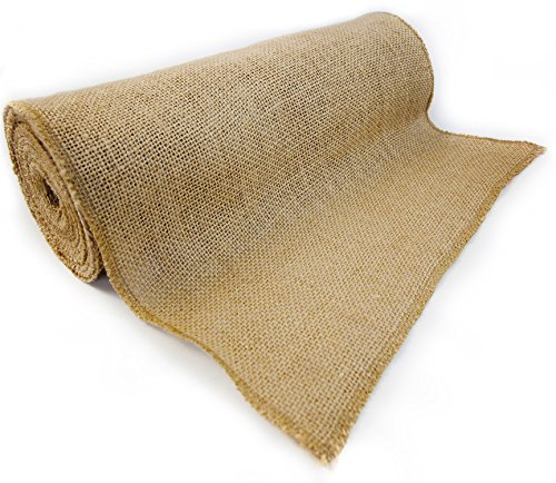 Richcraft 12' x 10yd NO-FRAY Burlap Roll ~ Long Fabric with Finished Edges. Perfect for Weddings,Table Runners, Placemat, Crafts. Decorate Without The Mess!
