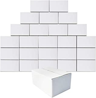 Calenzana 8x6x4 Shipping Boxes Set of 25, Small Corrugated Cardboard Box for Mailing Packing Gifts, White