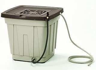 Suncast 50 Gallon Rain Barrel with Hose - Durable Resin Rain Barrel - Holds and Catches Rain Water - Taupe