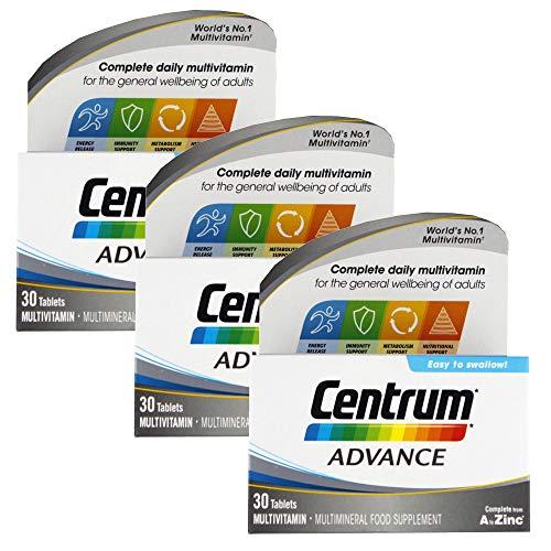3 x 30 Tablets A-Z Multivitamin Centrum Advance Energy Metabolism Immunity