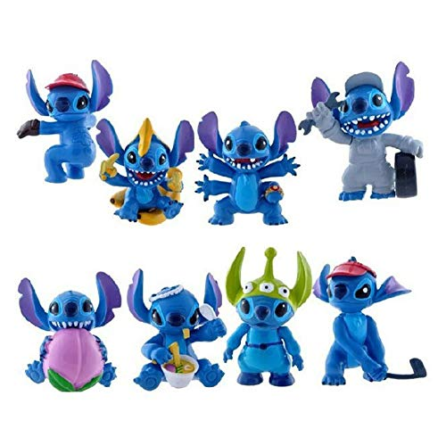 Atii Lilo Stitch Mini Figures For Cake Topper Room Decor And Kids Playing 8 Pcs Buy Online In India At Desertcart In Productid 153963968