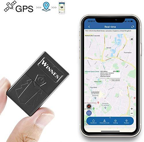 WINNES GPS-Tracker für Kinder, Notfallalarm, SOS, Positionierung in Echtzeit, Spion Tracker, GPS-Tracker, Mini für Alter, Wertsachen, Motorrad, Fahrrad, TK921