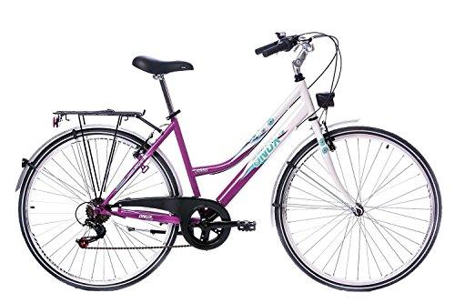 tretwerk DIREKT gute Räder Holiday 26 Zoll Citybike, Damen-Fahrrad 6-Gang Kettenschaltung, S