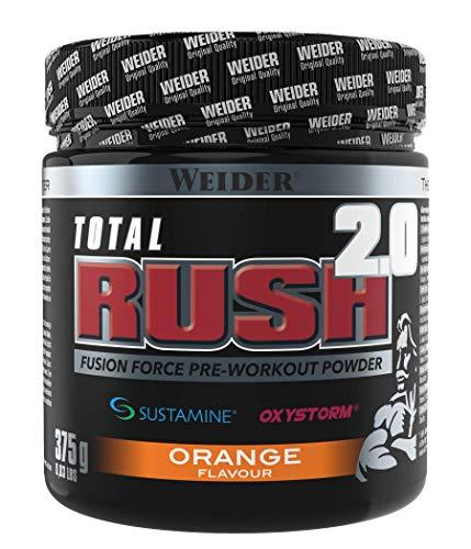 WEIDER Total RUSH 2.0 Pre-Workout Pulver, Orange, 375 g Energy Booster für mehr Leistung im Gym
