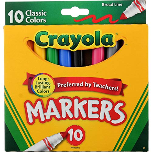 Crayola Ultraclean Broadline Classic Washable Markers (10 Count), (Pack of 2) Minnesota