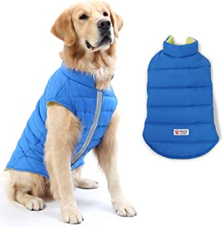 DORA BRIDAL Reversible Dog Winter Coat, Dog Apparel for Cold Weather,Pet Windproof Cloth Dogs Warm Classic Soft Vest Jackets,Puppy Warm Winter Coats for Small Medium Large Dogs