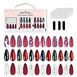 VIVID STELLA Stiletto Nägel Zum Aufkleben Künstliche Fingernägel Set 72 Stück Pre-glue Press on Fake Nägel Tipps für Mädchen