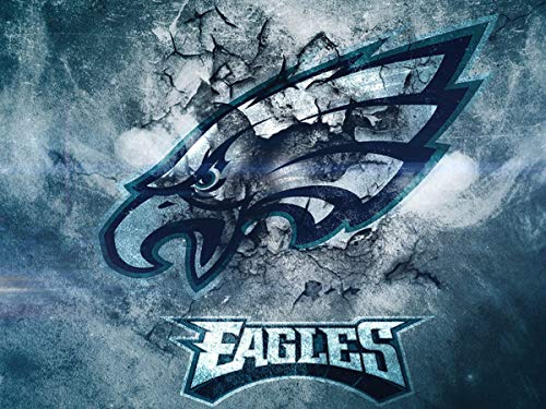 DIY 5D Diamond Painting Kits for Adults 12x16 lnch,Philadelphia Eagles Full Drill Diamond Painting Crystal Diamond Arts Crafts for Home Wall Decor,NFL Team Logo Mar6-154
