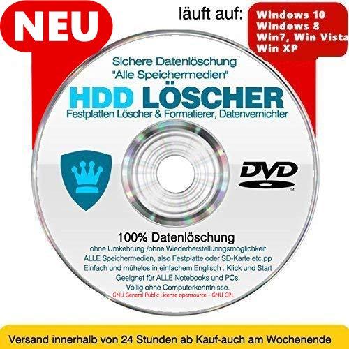 Festplatten Löscher & Formatierer, Datenvernichter, Sichere Datenlöschung !Alle Speichermedien! CD/DVD NEU+AKTUELL