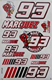 MARQUEZ 93 stickers decals adhesivo red color - 1 sheet