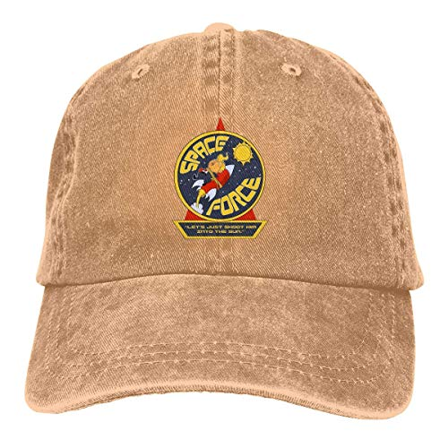 XCNGG Trumps Space Force 1 verstellbare Kassettenkappen Jeans Hüte Retro Cowboyhut Kappe für Männer Frauen Sport Outdoor